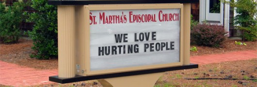 church sign hurt